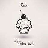 Pictograph of cake Vector icon Template for your design. poster