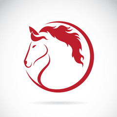 Vector images of horse design on white background