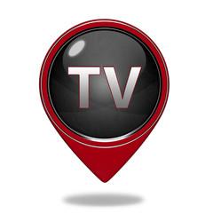 TV pointer icon on white background