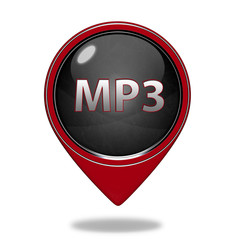 MP3 pointer icon on white background