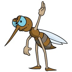 Mosquito With Raised Hand