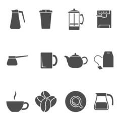 coffee tea icons