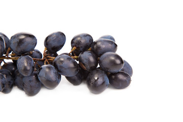 Black ripe grapes.