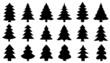 chritmas tree2 silhouettes
