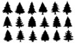 chritmas tree silhouettes - 72300603