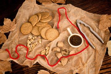 Homemade walnut cookies