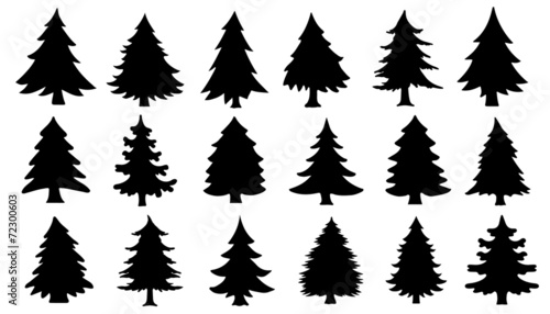 chritmas tree silhouettes