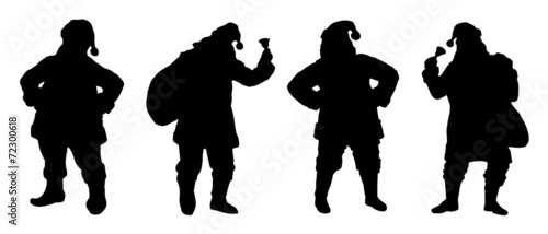 santa silhouettes - 72300618