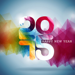 Vector Happy New Year 2015 colorful celebration background.