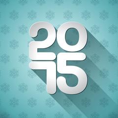 Vector Happy New Year 2015 typographic design