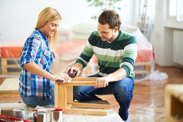 Brushing furniture