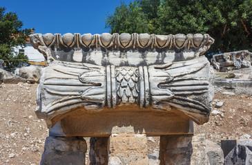 capitals Ionic columns