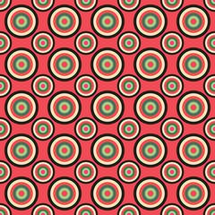 A retro seamless circular pattern