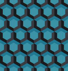 A seamless hexagonal style repeating pattern background