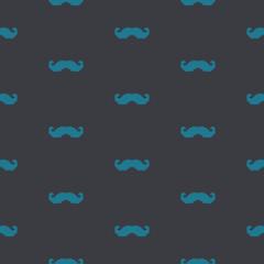 A seamless background of a pixel art mustache pattern
