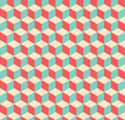A seamless geometric cube pattern background