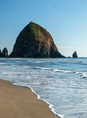 Haystack Rock at Cannon Beach Oregon USA