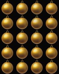 fond boules de Noël dorées
