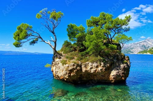 Leinwanddruck Bild Brela Strand - Brela beach 02