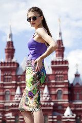 Young beautiful woman in Moscow