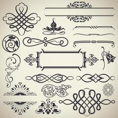 Vintage Calligraphic Design Elements Vector