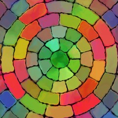 Abstract rainbow color paint mozaic pattern art background