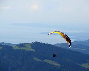 Gleitschirmflieger über dem Bodensee