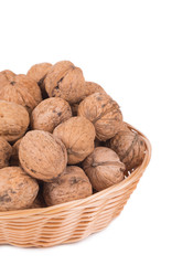 walnuts on basket