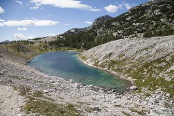 Alpine lake in Julian Alps