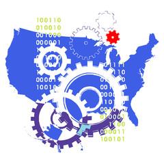 USA map e lavoro