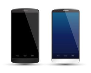 Mockup smartphones set vector realistic style.