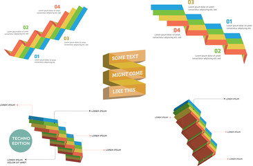 A collection of infographics