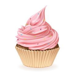 Colorful Sprinkles Cupcake