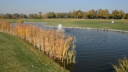Golf course in Mezhigirya, Ukraine