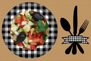 Plat de Crudités : Mini courgette  Tomate olive. . .