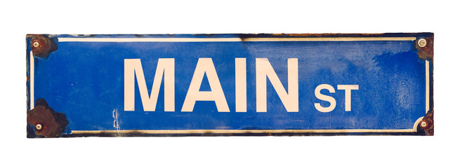Isolated Main Street Sign