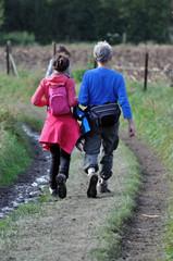 Couple de randonneurs âgés