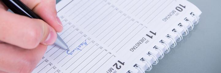 wichtigen meetingtermin notieren