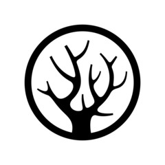 Decorative Simple Tree Logo in the Circle.