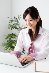 asian businesswoman working