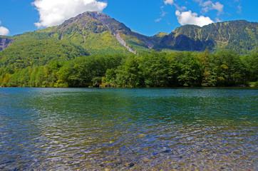上高地 焼岳と大正池