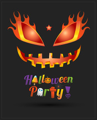 Happy Halloween party text design