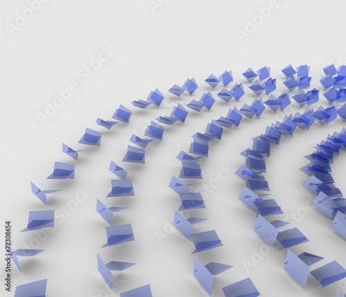 Papiers peints Spirale 螺旋状に配置された板の背景