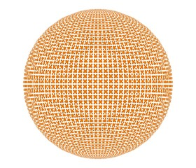 面の集合で構成された球体