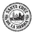 Santa Cruz de la Sierra grunge rubber stamp
