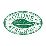 Ozone friendly grunge rubber stamp poster