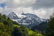 canvas print picture - Schneeberge im Melchtal Kt. Obwalden