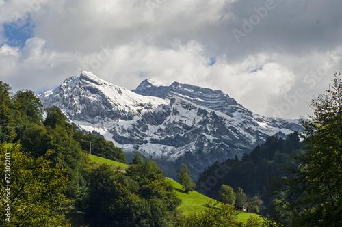 canvas print picture Schneeberge im Melchtal Kt. Obwalden