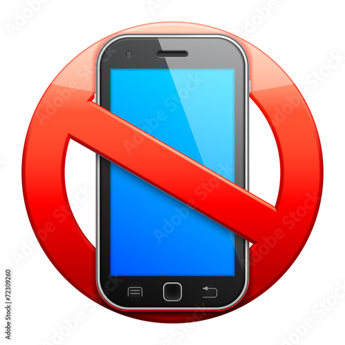 No cell phone sign. - 72309260