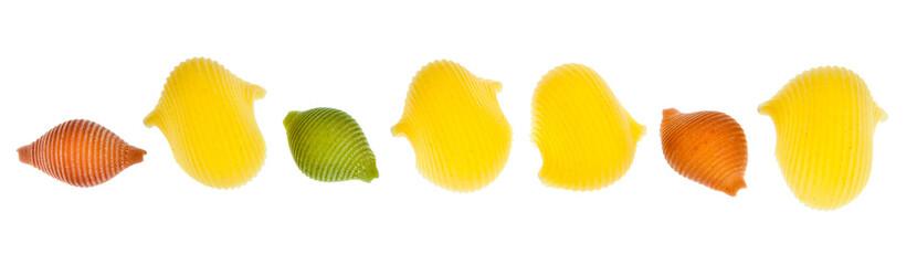 pasta isolated white background